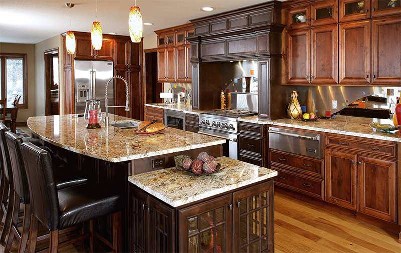 View of a remodeled kitchen by DreamMaker Bath and Kitchen