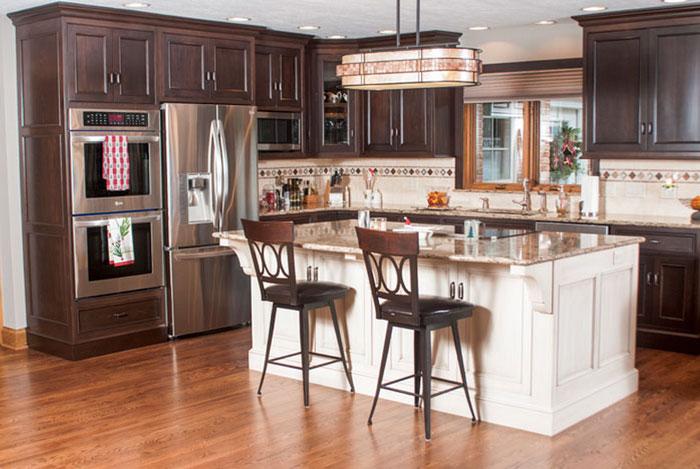 Nancy Ryland's remodeled kitchen.
