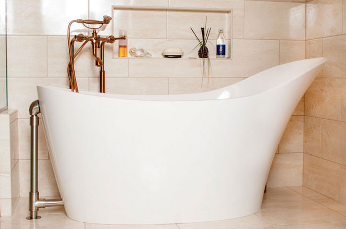 Making room for this tub was a special — but worthwhile — challenge for Steve Miller and his team.