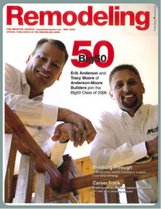Tracy Moore, right, and his business partner, Erik Anderson, were already on Remodeling Magazine's Big50 list when they decided to buy a DreamMaker Bath & Kitchen franchise.