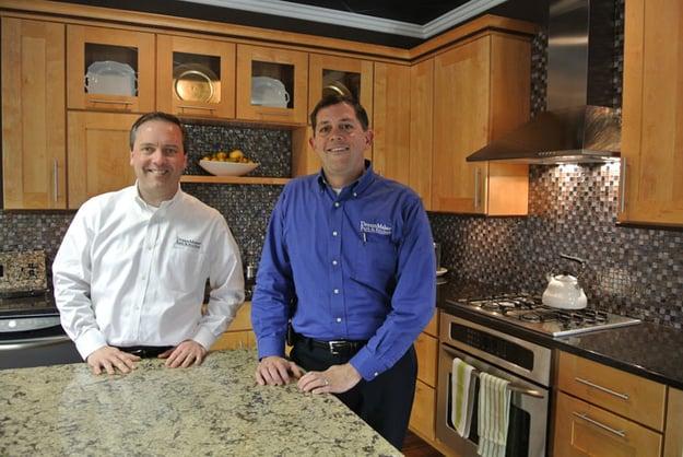 Lee Willwerth and Bob Ender at their DreamMaker Bath & Kitchen Design Center in Ann Arbor, Michigan.