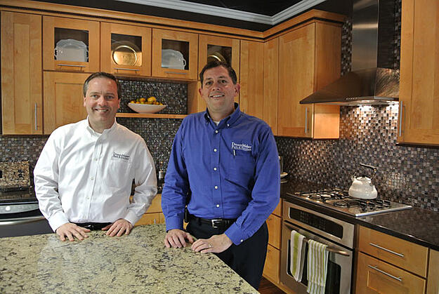 Lee Willwerth and Bob Ender at their DreamMaker Bath & Kitchen Design Center in Ann Arbor, Michigan.