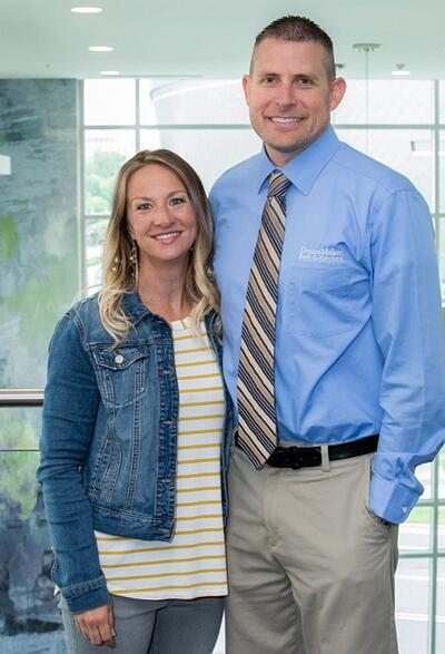 Air Force veteran and Ogden, UT, DreamMaker franchisee Nate Coombs with his wife, Emily.