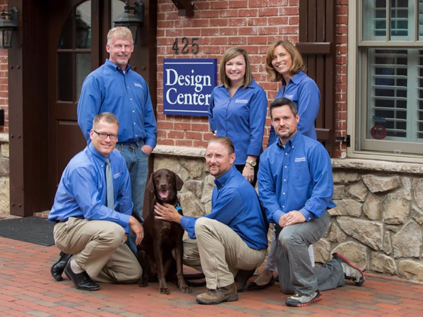 The Winston-Salem, NC, DreamMaker team outside their Design Center.