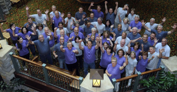 DreamMaker remodeling franchise owners and corporate team members celebrate at their 2014 Reunion.