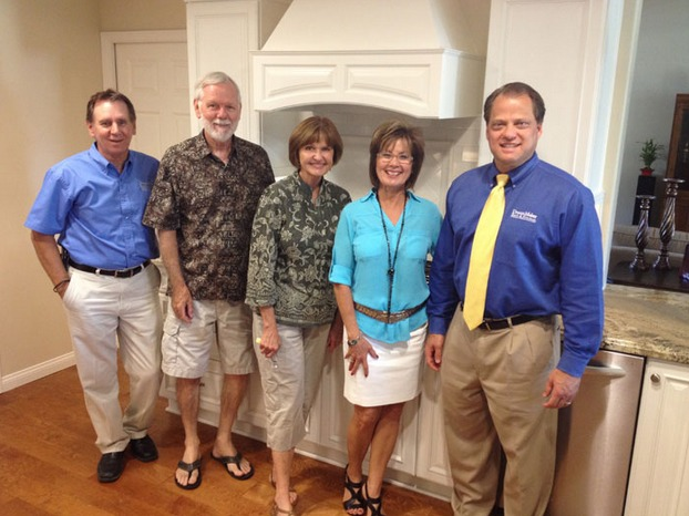 DreamMaker Bath & Kitchen President Doug Dwyer (right), with the team at DreamMaker of Bakersfield, California.
