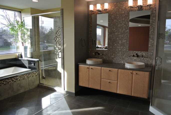 Another peek inside Lee Willwerth and Bob Ender's DreamMaker Design Center. The center helps educate customers about various remodeling options.
