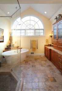 This remodeled bathroom is an example of the quality of work that DreamMaker remodeling franchises provide their customers.