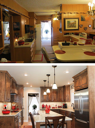 The before and after of one of Steve's kitchen remodels.