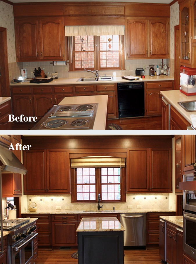 DreamMaker has seen a big increase in kitchen remodeling projects in 2014, like this before-and-after transformation performed by DreamMaker Bath & Kitchen of Winston-Salem, North Carolina.